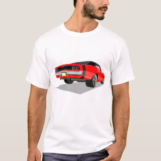 Red with Black Stripes '68 Charger T-Shirt