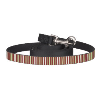 Red With Brown Stripes Pattern Pet Lead