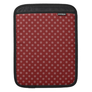 RED WITH PINK POLKA DOTS PATTERN iPad SLEEVE
