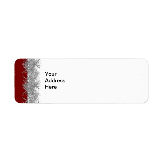 Red with Silver Tinsel Label