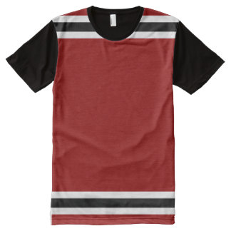 Red with White and Black Trim