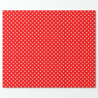 Red with White Polka-Dot Wrapping Paper