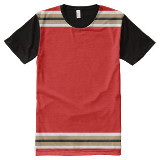 Red with White True Gold and Black Trim