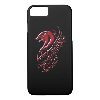 Red Wolf Black iPhone 7 Case