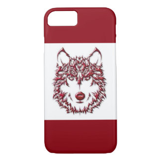 Red Wolf iPhone 7 Case