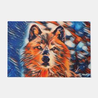 """Red Wolf Wildlife 24"""" x 36"""" Door Mat"""