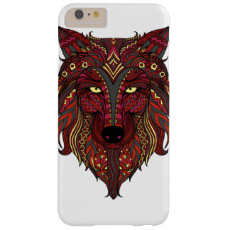 Red Wolf yellow gray head Barely There iPhone 6 Plus Case