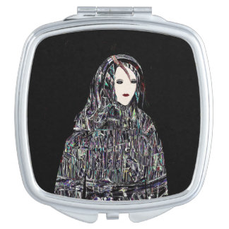 Red Woman Travel Mirrors