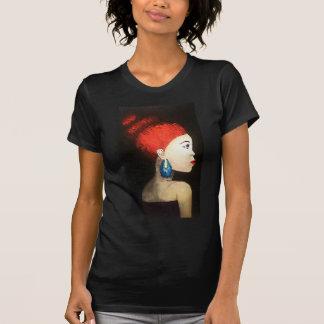 red woman tshirt