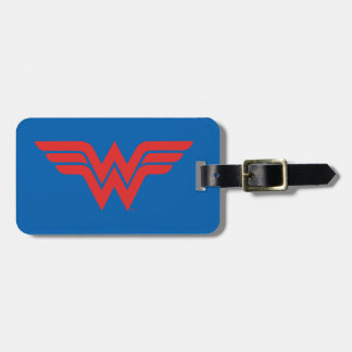 Red Wonder Woman Logo Bag Tag