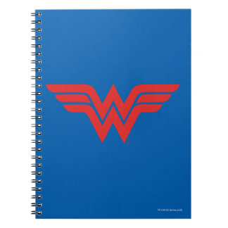 Red Wonder Woman Logo Notebooks