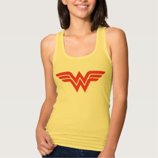 Red Wonder Woman Logo Tank Top