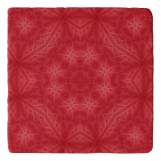 Red wood abstract pattern trivet