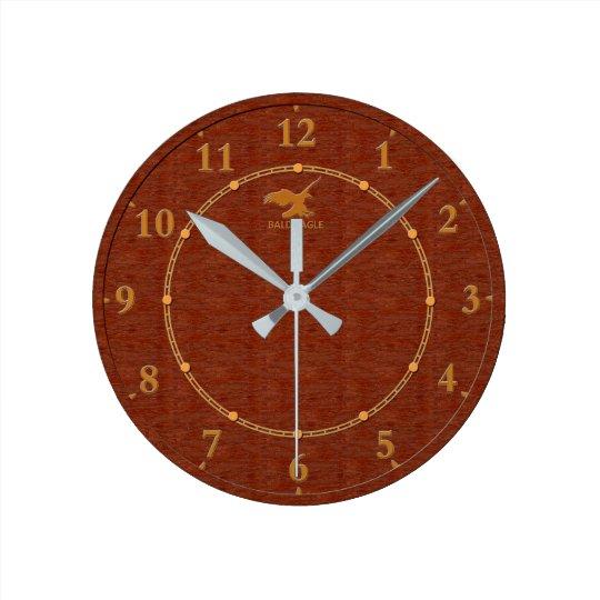 Red Wood Decorative 4-c Modern Wall Clock Sale