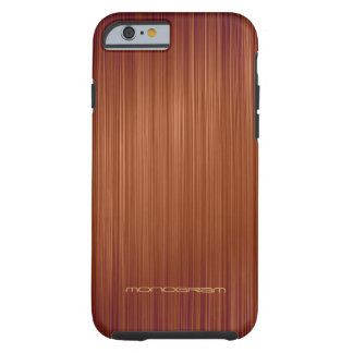 Red Wood Look Texture Pattern-Monogram Tough iPhone 6 Case