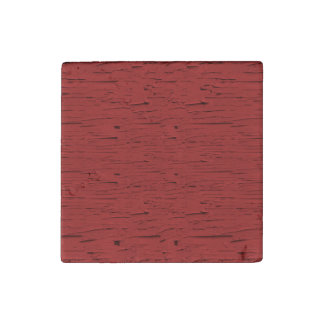 Red Wood Stone Magnets