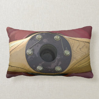 Red Wooden Airplane Propeller Pillow