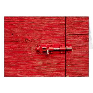 Red Wooden Bolt Card