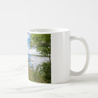 Red wooden cottage in Sweden Coffee Mug