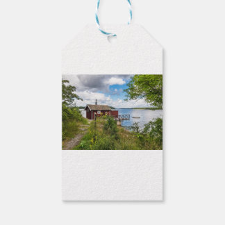 Red wooden cottage in Sweden Gift Tags