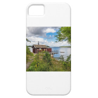 Red wooden cottage in Sweden iPhone 5 Cases