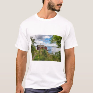 Red wooden cottage in Sweden T-Shirt