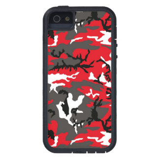 Red Woodland Camouflage iPhone 5 Cases