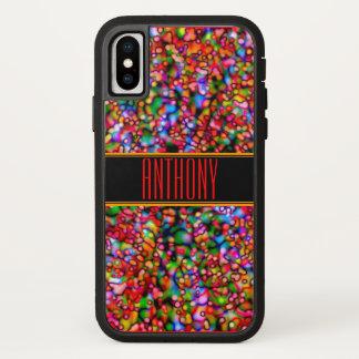 Red Wormhole Bubbles Monogram Phone Case