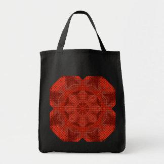Red Woven Mandala Tote Bag