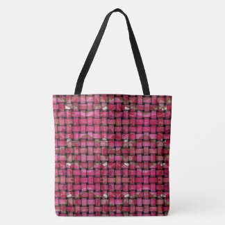 Red Woven Tote bag