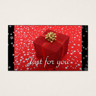 Red Wrapped Gift Stars Business Gift Certificates
