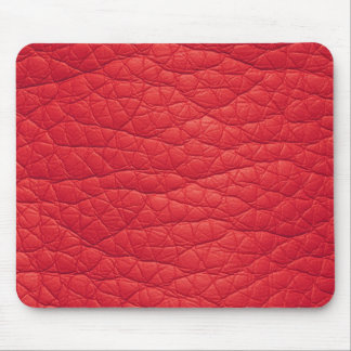Red Wrinkled Faux Soft Leather Mousepad