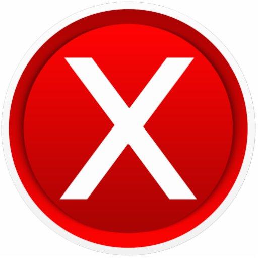 Red X No Incorrect Symbol Photo Cutouts Zazzle