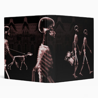 Red X-Ray Skeletons Midnight Stroll Binder