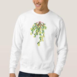 red xmas mistletoe sweatshirt