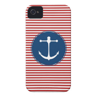 Red Yacht Club Pattern iPhone 4 Case-Mate Case