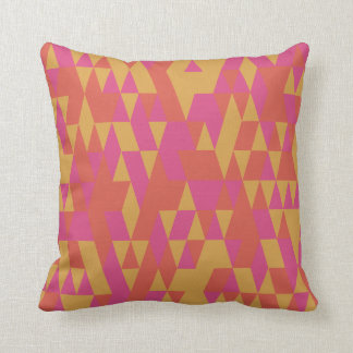 Red Yellow Abstract Poly Triangular Throw Pillow