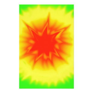 Red, Yellow and Green Tie Dye Stationery