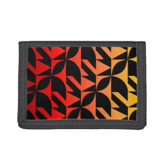 Red, yellow, and orange rhythmic design wallet