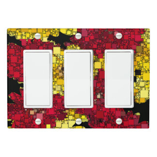 Red, Yellow, and Shades of Gold Mini Boxes Light Switch Cover