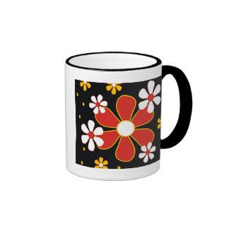 Red Yellow And White Flowers Coffee Mug