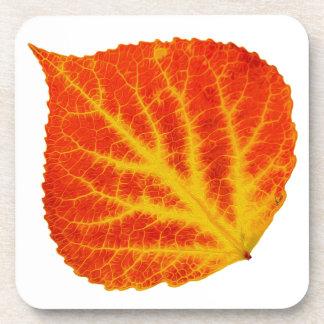 Red & Yellow Aspen Leaf #10 Coaster