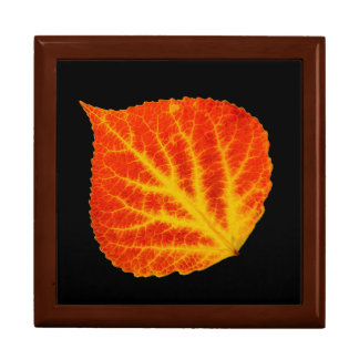 Red & Yellow Aspen Leaf #10 Gift Box