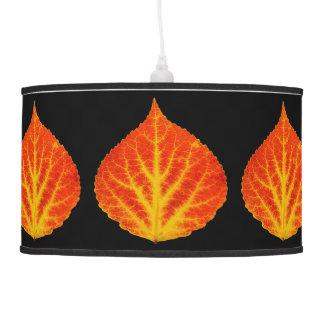 Red & Yellow Aspen Leaf #10 Pendant Lamp