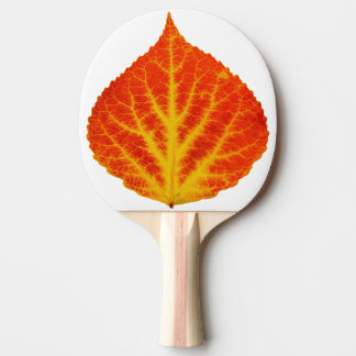 Red & Yellow Aspen Leaf #10 Ping Pong Paddle