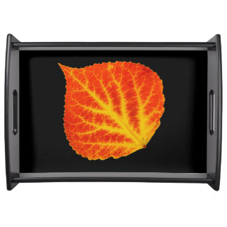 Red & Yellow Aspen Leaf #10 Serving Tray