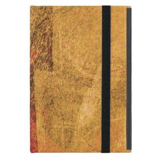 Red yellow black abstract paint brush art iPad mini case