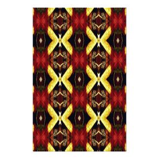 Red Yellow Black Modern Lattice Pattern Personalized Stationery