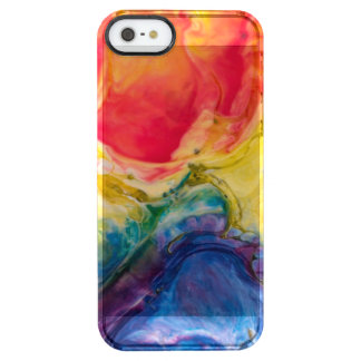 Red Yellow Blue Abstract Painting Clear iPhone SE/5/5s Case
