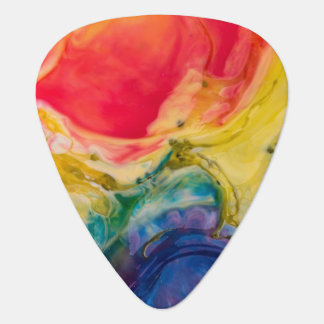 Red Yellow Blue Abstract Painting Guitar Pick